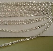 Wholesale 100ft spool of Antiqued Silver Plated Round Cable Chain 2x2.5mm