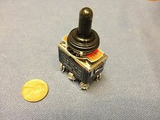 1 Piece Black Waterproof boot cap DPDT momentary Toggle switch ON/OFF/ON car