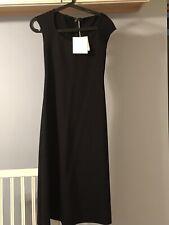 "The Row Black ""Rhode"" Scuba Jersey Midi A-Line Dress Small NWT"
