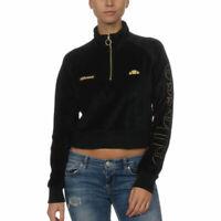 ELLESSE SARASSO Womens Half Zip Hoodies Jumper Crop Tops Fleece Sweatshirt