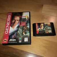 TRUE LIES Sega Genesis TESTED AUTHENTIC w BOX CASE Action Movie Schwarzenegger