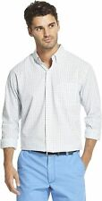 IZOD Men's Button Down Long Sleeve Stretch Performance Tattersal Shirt