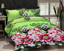 Dream Decor Polyester Double Bed Sheet With 2 Pillow Covers - Green
