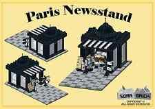 LEGO custom modular building instruction - Paris Newsstand