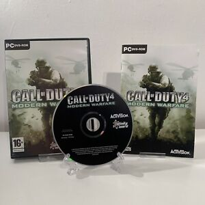 Call of Duty 4 Modern Warfare (PC) Game Complete FREE P&P GOOD CONDITION