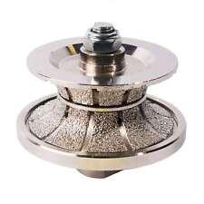 """1-1/2"""" Full Bullnose VacuumBrazed Diamond Profile Wheel & Female Threads V40FBPW"""