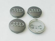 4x 60mm AUDI Wheel Centre Caps Hub Cover Gray 4B0601170