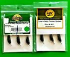 2 Montana Fly Trina's Belly Dancer Body Jig Size 6 Black 3 Count Package