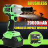 98VF 20000mAh Electric Brushless Cordless Impact Wrench Gun High Torque Drill US