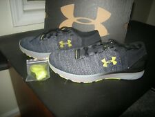 New Mens Gray & Yellow Under Armour Charged Bandit 3 XCB Tennis Shoes Size 10