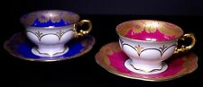 Hutschenreuther Lace Design Set of Two Gorgeous Demitasse Cups Saucers - C