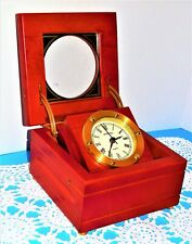 Desk Clock with Lidded Cabinet