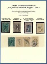 USA, CLASSIC SCARCE LOT OF 8 DIFF. DOCUMENTARY REVENUES, SEE...  #A90