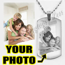 Custom Engraving Photo Text Dogtag Necklace Pendant Great Special Christmas Gift