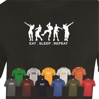 EAT SLEEP REPEAT FORTNITE NEW Style Kids Inspired Gaming Funny Gift T Shirt