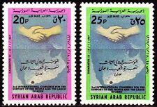 Syrien Syria 1967 ** Mi.959/60 Solidarität Landkarte Map