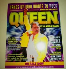 Queen 2006 Org Concert Poster AND Queen: It's a Kinda Magic Card Seattle Show