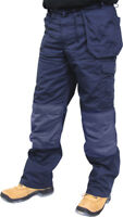 Click Premium Multipocket Work Trousers Knee Pad Holster Pockets Blue or Black