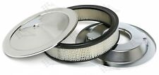 """14"""" x 3"""" Chrome Air Cleaner /  Filter With Recessed Base - Holley, Edelbrock"""