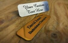 Trophy Plate Door Plaque  - Gold or Silver Aluminium - Printed NOT Engraved