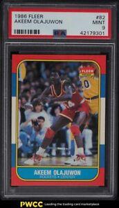 1986 Fleer Basketball Hakeem Olajuwon ROOKIE RC #82 PSA 9 MINT