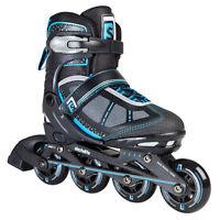 Skatelife Lava Adjustable Inline Kids Skate, Black/Blue