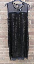 Jones New York Collecion Black Sequin Dress. XL. (14) NWT