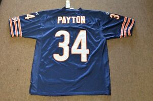 Walter Payton Chicago Bears Reebok #34 Stitched Football Jersey Mens Size 50 NWT