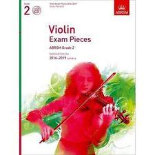 Violin Exam Pieces 2016-2019 ABRSM Grade 2 Score Part and CD 9781848496941