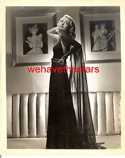 Vintage Constance Bennett GORGEOUS '37 TOPPER IRENE FASHION Publicity Portrait