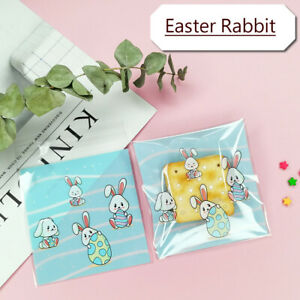 2021 New Easter Rabbit Cello Cellophane Birthday Party Favor Cookie Gift Bags