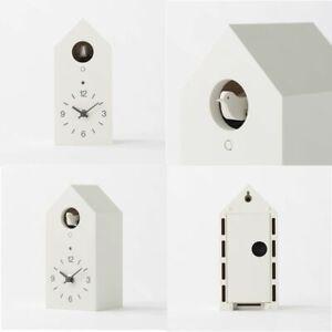 New MUJI Mechanical cuckoo Wall or put clock White Japan light sensor from Japan