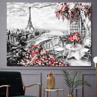 Paris Eiffel Tower Canvas Painting Landscape Wall Art Picture Poster Home Decor