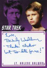 Star Trek TOS Archives & Inscriptions autograph A29 Beverly Washburn Thanks Chek