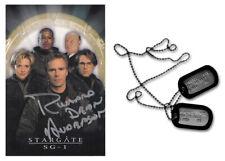 STARGATE 'Jack O'Neill' replica prop dogtags + Richard Dean Anderson autograph!