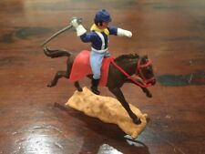 Timpo US 7th Cavalry Trooper Mounted - White Gloves - Wild West - 1970's