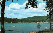Lake Hopatcong New Jersey Van Every Cove Waterfront Vintage Postcard K13101