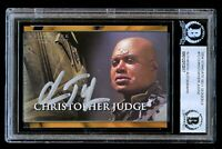 Christopher Judge #72 signed autograph 2004 Stargate SG-1 Season 6 Card BAS Slab