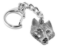 Wolf Head Pewter Keyring (Comes in Gift pouch, Made in The UK)