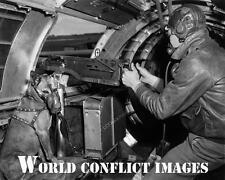 USAAF WW2 B-17 Bomber Waist Gunner & Dog 8x10 Photo 401st BG WWII