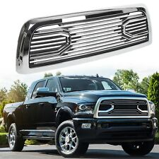 FOR 10-18 DODGE RAM 2500 3500 TRUCK BADGELESS BIG HORN STYLE FRONT GRILLE CHROME