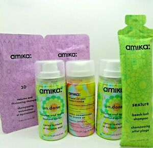 amika un.done volume and matte texture spray & dry conditioner travel lot