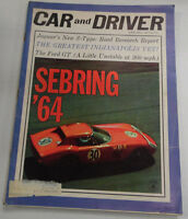 Car And Drive Magazine Sebring & Jaguar S-Type June 1964 040317nonr