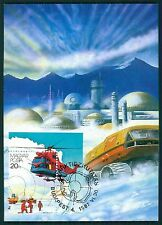 HUNGARY MK ANTARCTIC RESEARCH STATION HELICOPTER CARTE MAXIMUM CARD MC CM br91