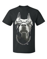 New PubliciTeeZ Big and Tall King Size Doberman with Sunglasses t-shirt