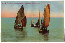 CPA 80 - LE CROTOY (Somme) - 67. Barques de Pêche. Promenade en Mer - ND