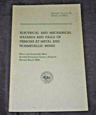 New listing Electrical & Mechanical Mine Hazards Us Bureau Of Mines Circular 56 1957 Booklet