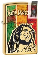 Zippo 29490 Bob Marley Fusion High Polish Brass Finish Lighter + FLINT PACK