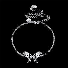 Sexy 925Sterling Silver Lovely Butterfly Women Anklets Chain Bracelet YA209