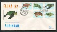 SURINAME FDC 1982 SCHILDKRÖTE SCHILDKRÖTEN TURTLE TURTLES TORTUES TORTOISE d8700